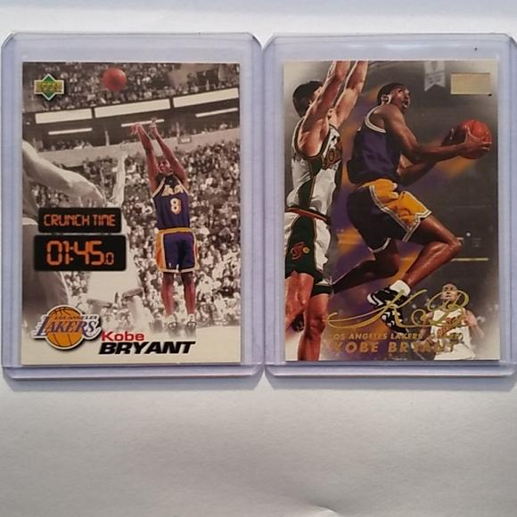 "Kobe Bryant ""2"" Card LOT (early years)"